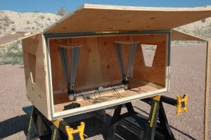Chronograph Coffin for infrared skyscreens on CED Millennium and Millennium 2 - Setup Overview