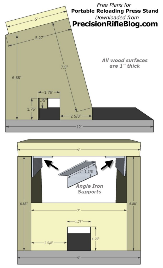 free plans for portable reloading press stand