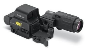 EOTech holograph reflex sight with flip-to-side magnifer