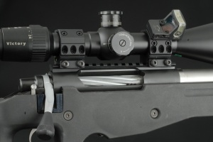 Spuhr Mount with Reflex Sight Mounted At 45 Degrees