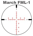 March FML-1 Scope Reticle