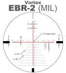 Vortex EBR-2 MRAD MIL Scope Reticle
