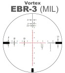 Vortex EBR-3 MRAD MIL Scope Reticle